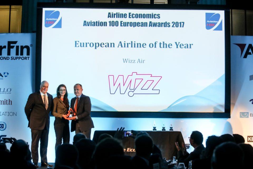 Wizz Air е европейска авиокомпания на годината според Aviation 100
